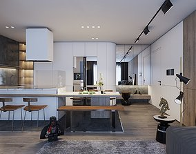 Modern house design 3D animated