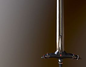 German stylized two-handed sword 3D model