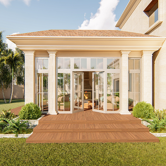 Conservatory design and renovation project