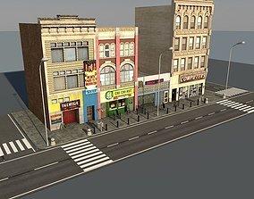 3D model Lowpoly Street part