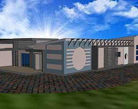 Three bedroom residential 3D asset