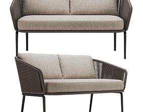 Dedon Rilly 2 seater sofa 3D model