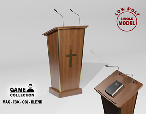 Church Podium 3D asset