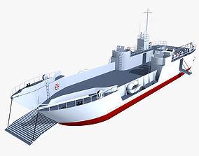 LCT Tank Landing Ship 3D