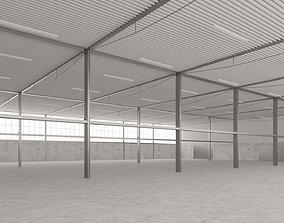 Empty Factory Warehouse 3D asset