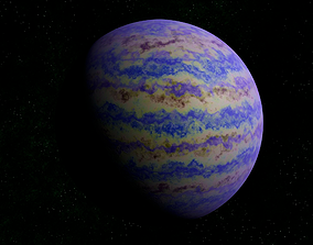 Blue gas giant 2 3D asset