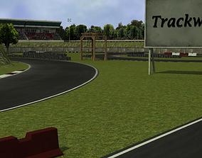 3D model Trackwood drift race track