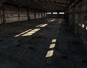 Old rusty industrial interior 3D model
