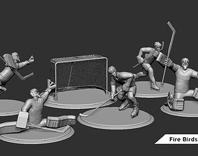 Ice Hockey Player Goalie Collection 3D print model 6