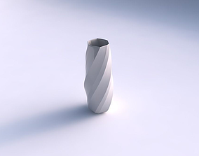 Vase squeezed hexagon with bands 3D print model