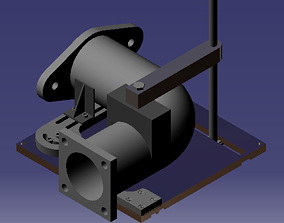 Elbow Pipe Fixture 3D printable model