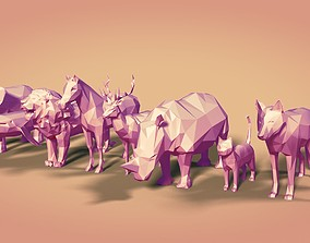 3D model Low Poly Animals Collection