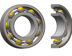 3D printable model Angular ball bearing with small cage