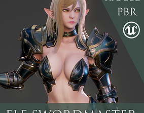 Elf Swordmaster - Game Ready 3D model