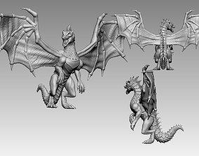 3D print model green dragon dnd