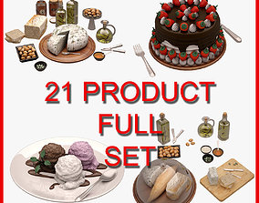 3D model Food and Drink Set 001 21 Product