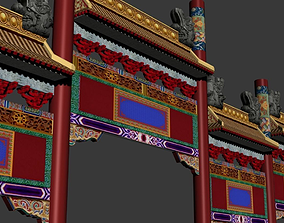 ancient chinese tori 3D model architecture