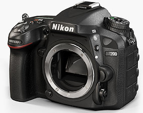 Nikon D7200 DSLR camera 3D asset
