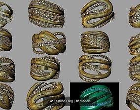 3D model 12 Fashion Ring