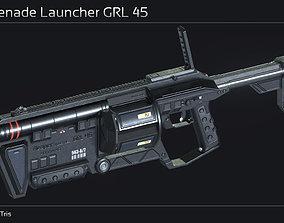 Scifi Grenade Launcher GRL 45 3D model