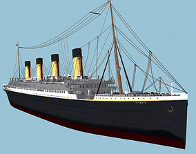 RMS Titanic White Star Liner ship 3D model watercraft
