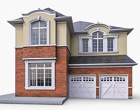 3D asset VR / AR ready Cottage House 10