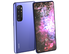 3D xiaomi Xiaomi Mi Note 10 Lite Nebula Purple