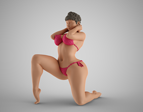 3D printable model Woman Holding the Neck