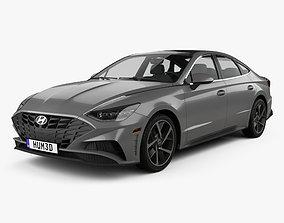 3D model Hyundai Sonata US-spec 2019