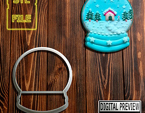 COOKIE CUTTER - CHRISTMAS SNOW GLOBE THEME 3D print model