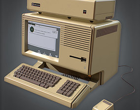 80s - Computer 03 Retro 3D asset