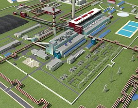 pipe Coal Power Plant 3D model