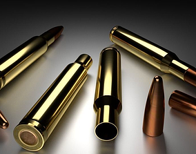 Rifle Ammo 3D asset