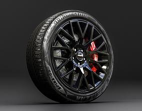 Wheel 3d model vehicle