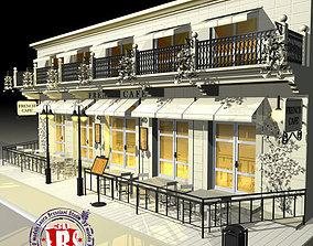Cafe Restaurant facade 3D model