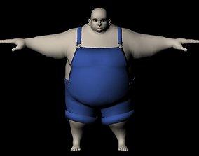 3D asset rigged Fat Man