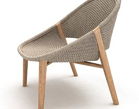 Tribu elio handwoven armchair 3d model