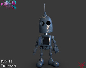 printable Stylized Tin Man Robot Timelapse and Model