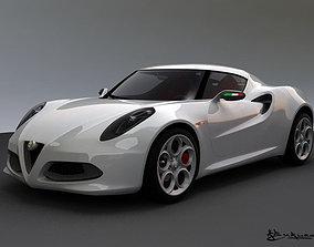 3D model Alfa Romeo 4C Concept 2011