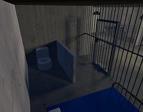 a complete prison with cells and a eating area 3D model 2