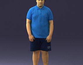 Fat boy in a cap 0272 3D Print Ready