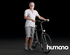 Humano Biking Woman 0701 3D