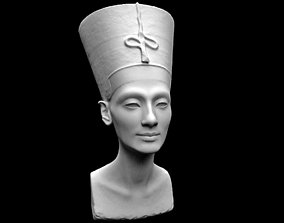 profile 3D printable model Egyptian Queen Nefertiti