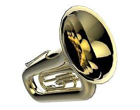 3D asset Brass Tuba