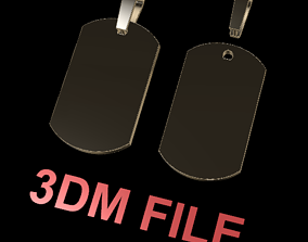 Flat Dainty Dogtag ID Bar 3D printable model