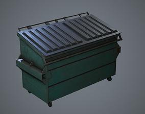 3D model Dumpster Trash Can Bin