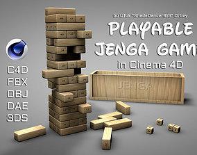 3D Playable Jenga Game