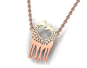 Giraffe Love pendant 3dprintable model N0260