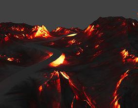volcano 3D asset game-ready rock