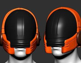gas mask helmet scifi high poly 2
